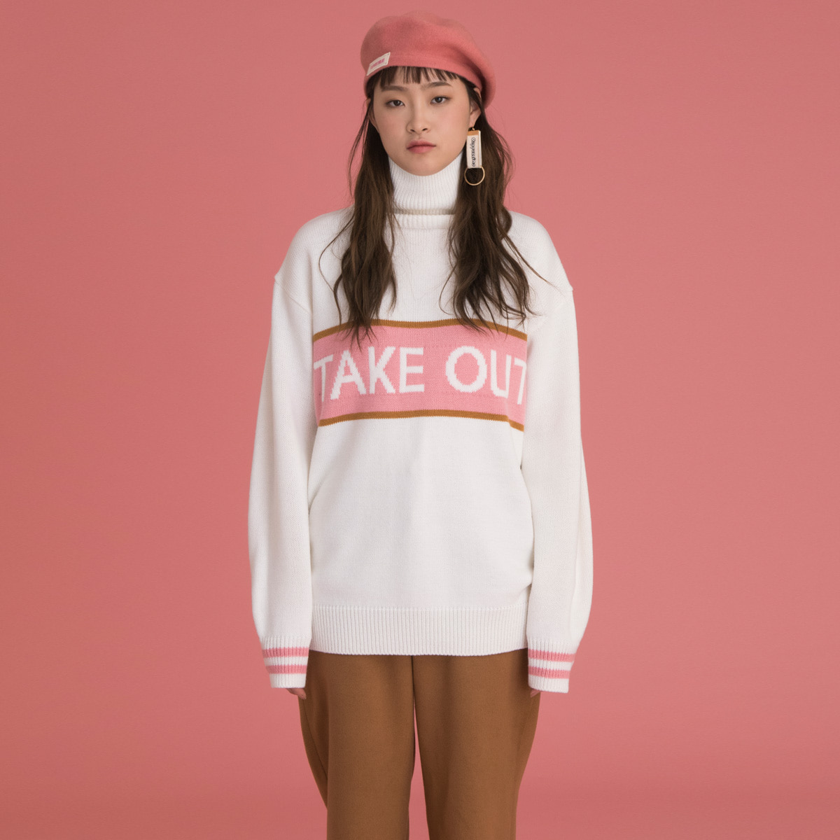 (UNISEX)CE TAKE OUT KNIT_PK