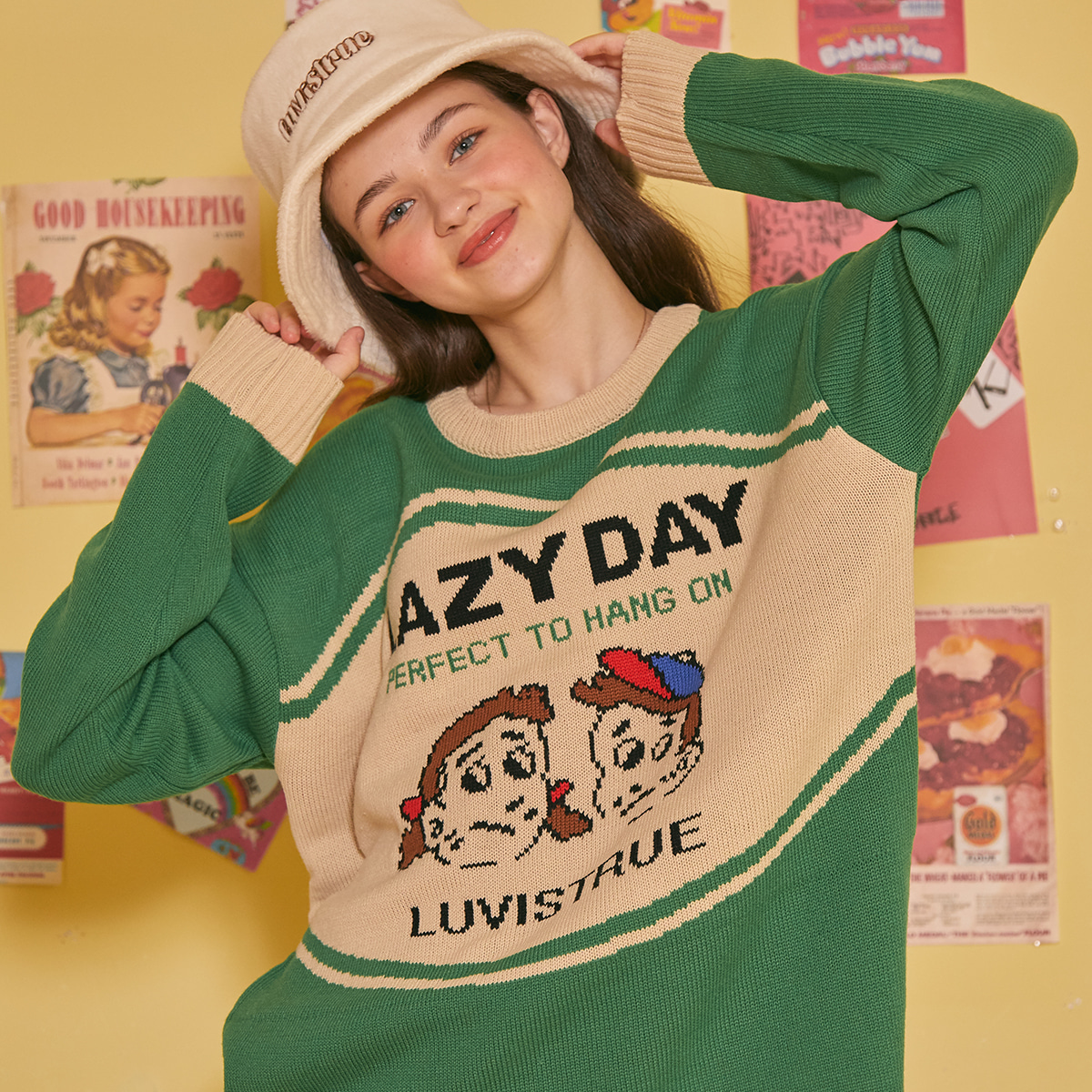 LZ LAZY KNIT(GREEN)