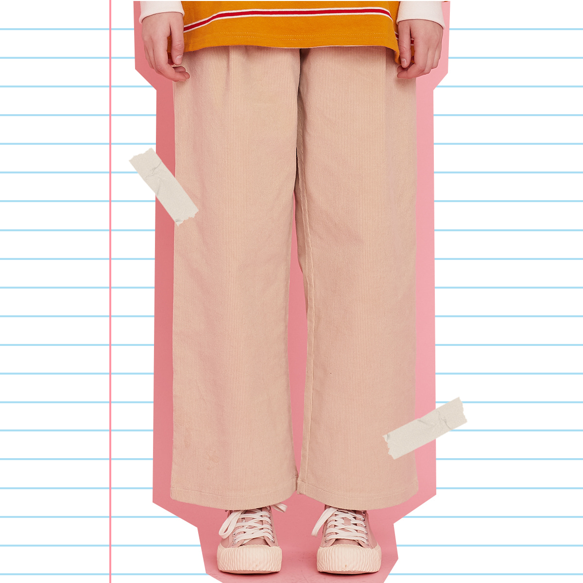 MD WIDE PANTS(BEIGE)