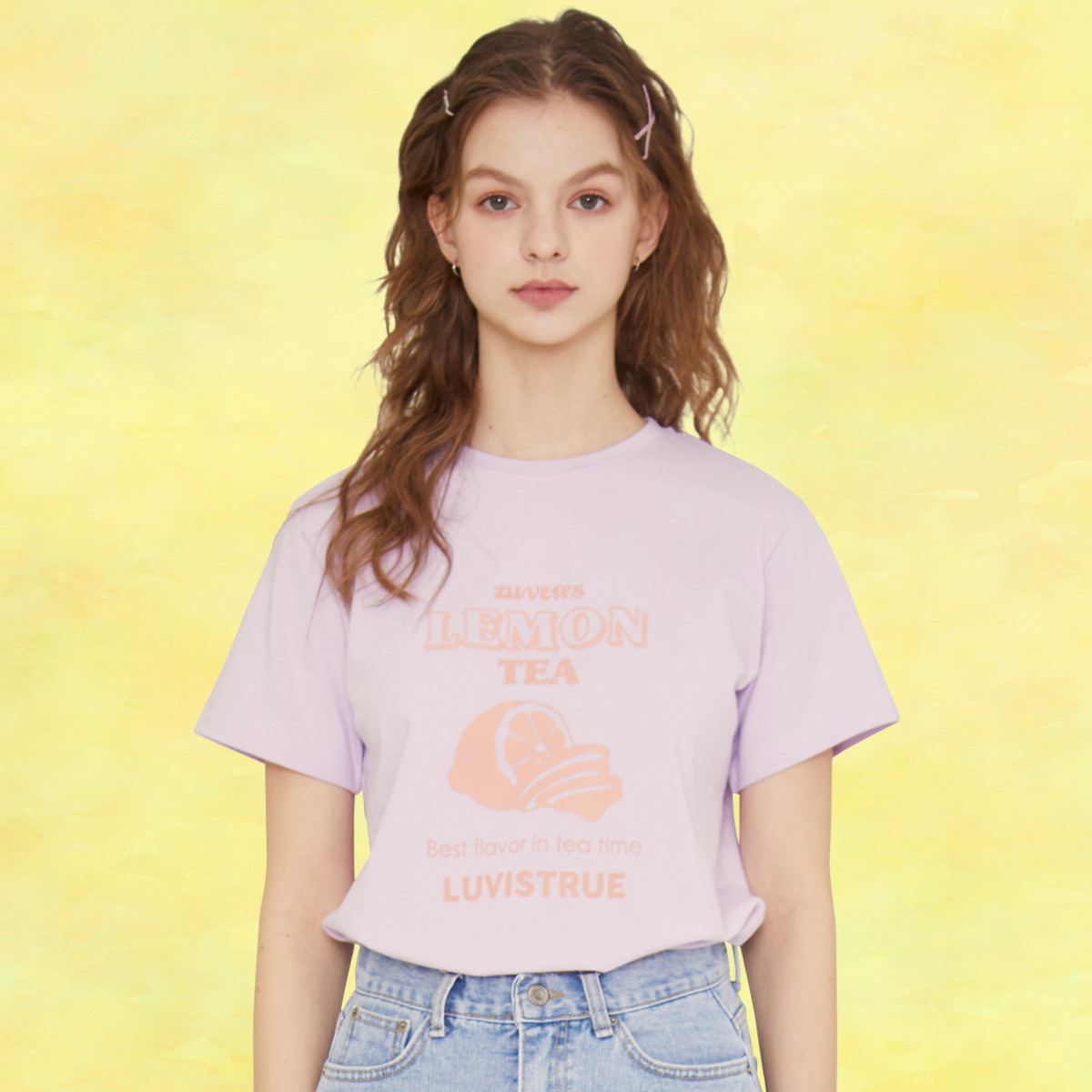 SZ LEMON T-SHIRT(VIOLET)