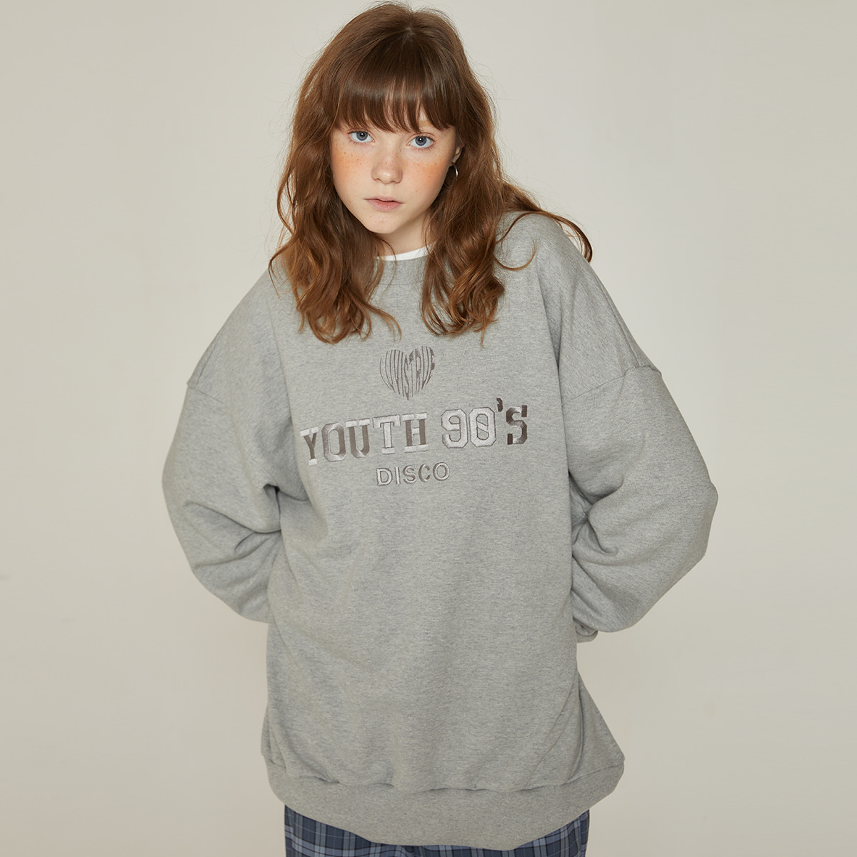 DT 90S SWEATSHIRT(GRAY)