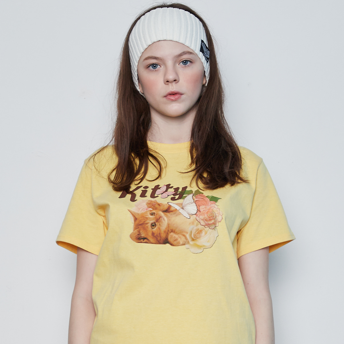 IN KITTY TEE(YELLOW)