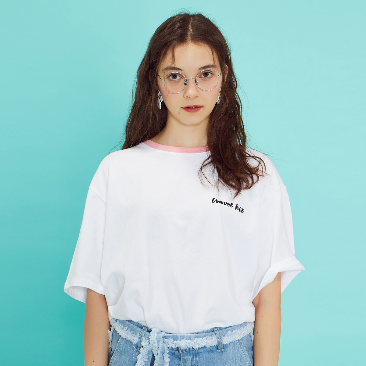 (UNISEX)RE TP T-SHIRT(WHITE)