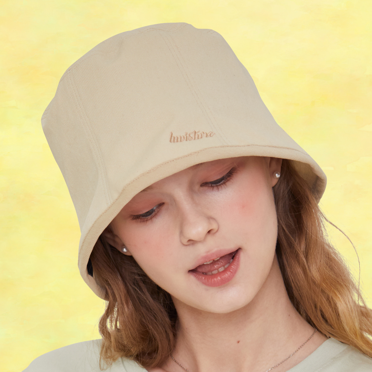 SZ BUCKET HAT(BEIGE)