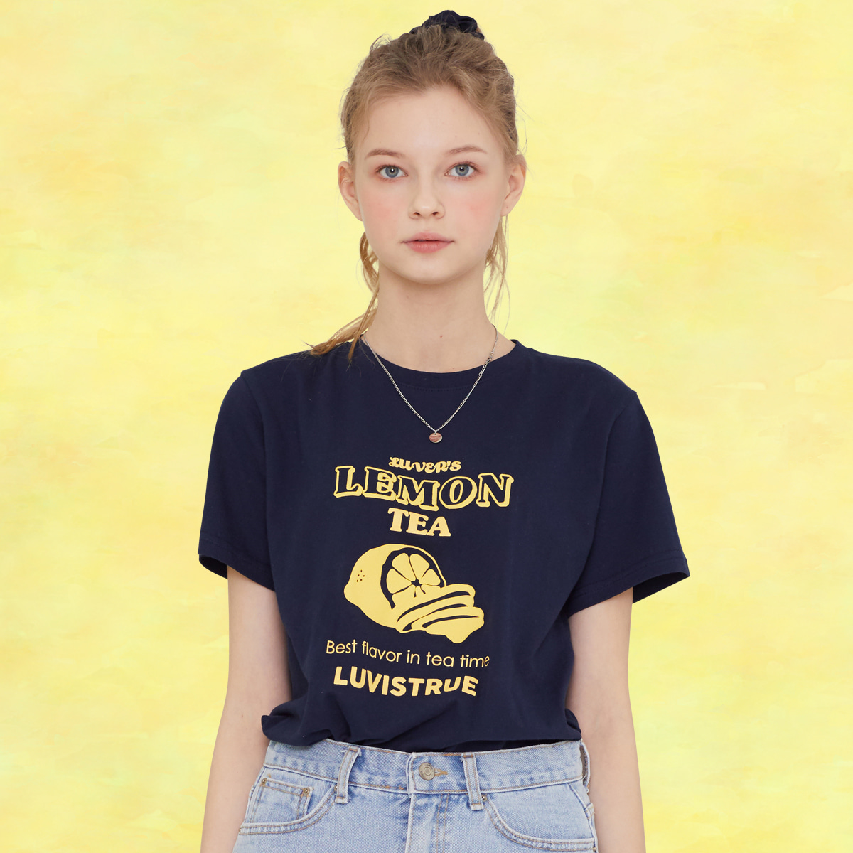 SZ LEMON T-SHIRT(NAVY)