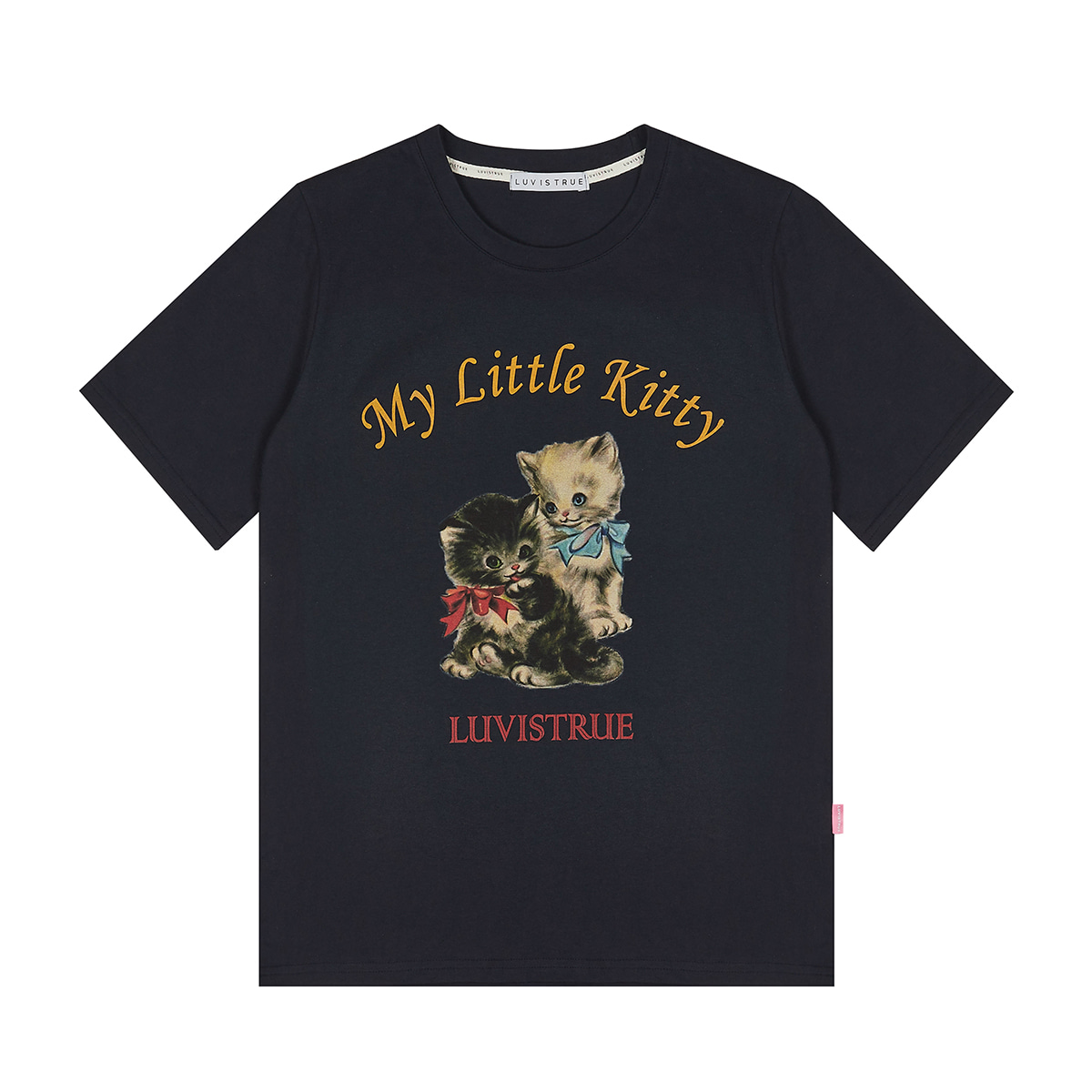 LVG KITTY TEE(NAVY)