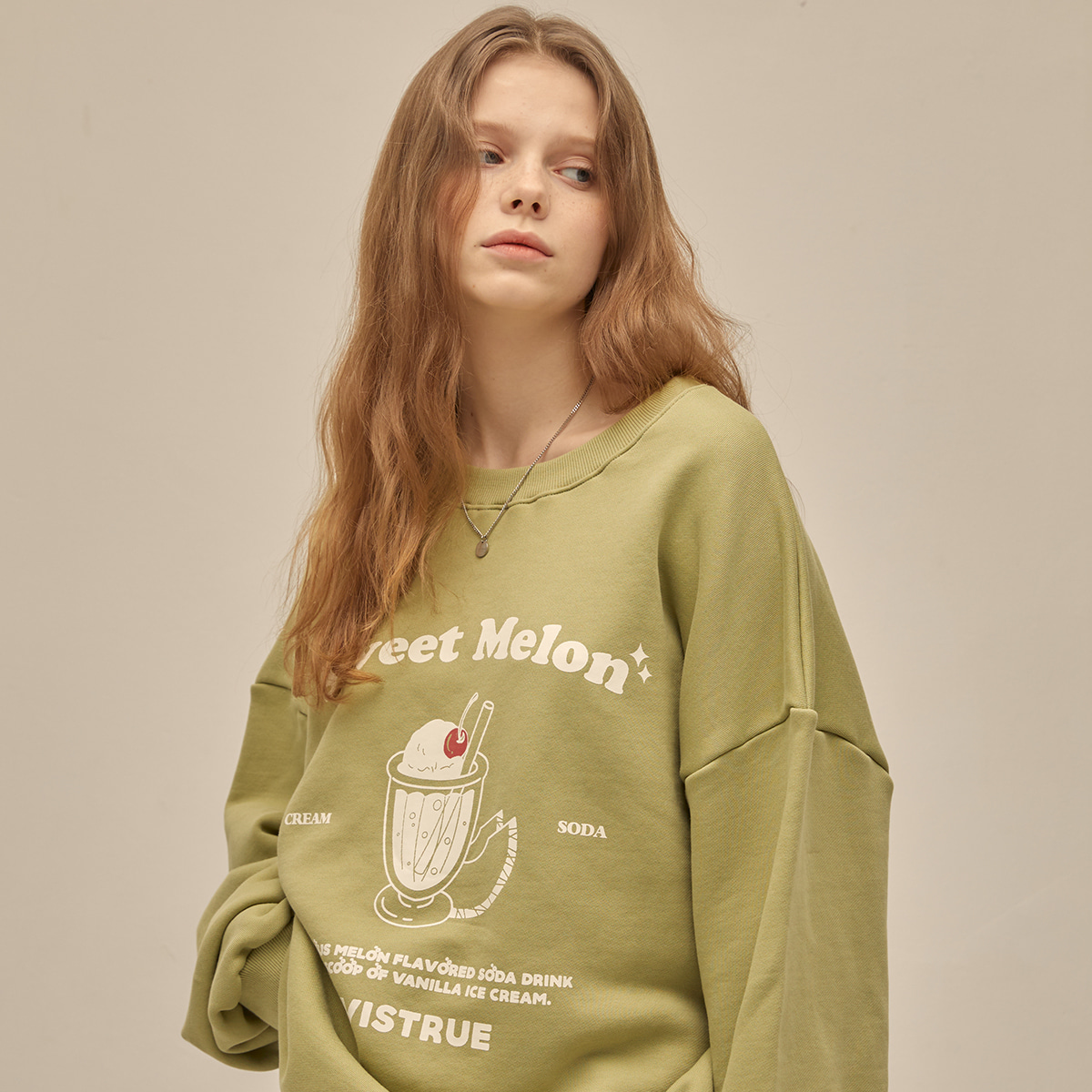 PO MELON SODA SWEATSHIRT(LIGHT GREEN)