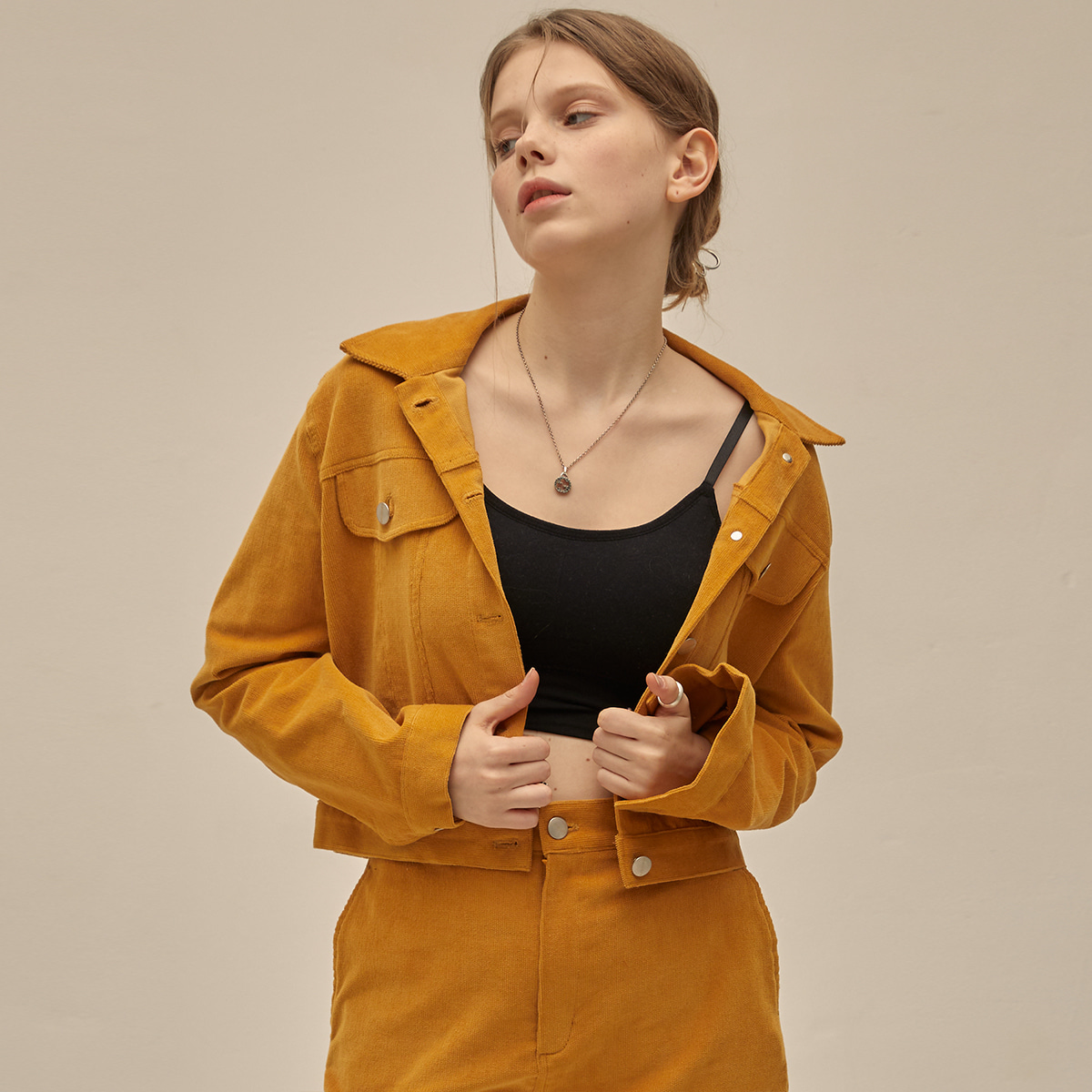 PO CORDUROY JACKET(YELLOW)