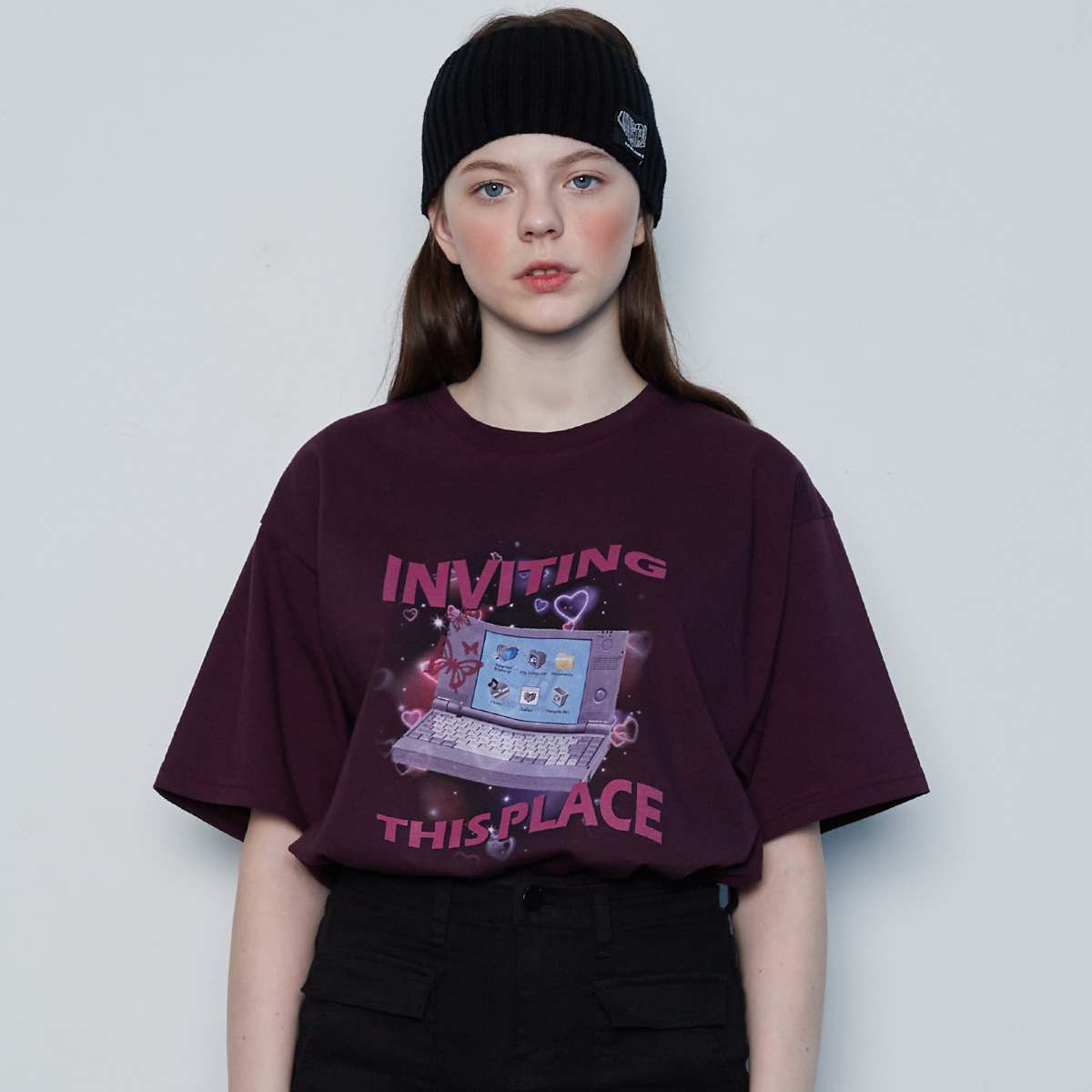 IN GRAFIC OVER TEE(PURPLE)