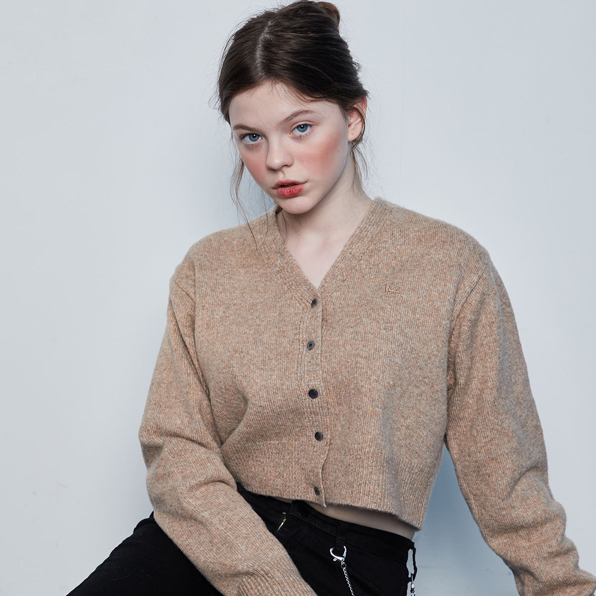 IN CROP KNIT CARDIGAN(BEIGE)